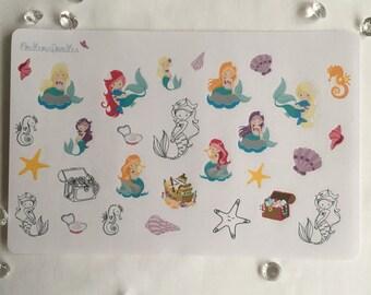 Mermaid Kids Stickers