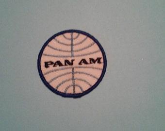Pan Am Pan American Airways Official Logo Airline Old School Patch - Vintage