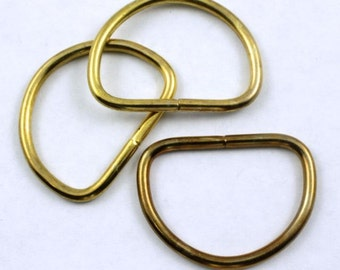 32mm Raw Brass D-Ring (2 Pcs) #280