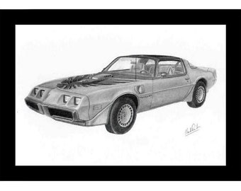 Drawing of a 1979 Trans-Am