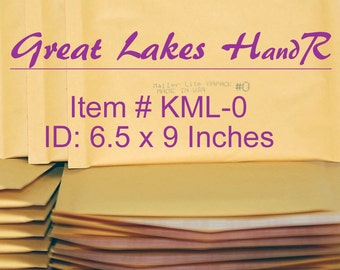 20 DVD Size KML-0, Kraft Bubble Cushioned Envelope Mailers, OD: 7.375 x 9 inches