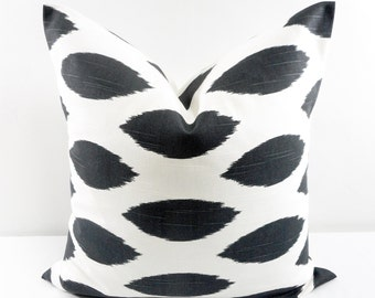Charcoal Pillow  Cover. Charcoal and White Pillow Cover. Chipper. Pillow cover.  Sham Pillow case. Select your size.