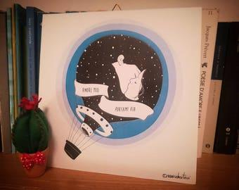 "Sketch Print on hard Support-""Fabrizio Moro/Take Me Away"""