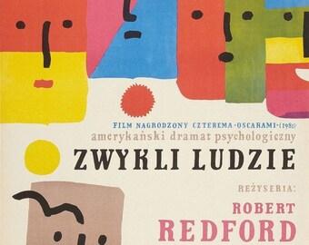 Spring Sales Event: ORDINARY PEOPLE Movie POSTER Robert Redford Rare Polish