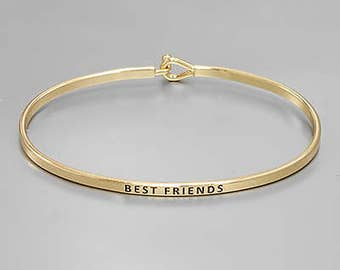 Best Friends Engraved Bangle
