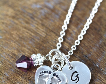 Mothers Day Gift for New Mom Necklace Push Gift , Baby Shower Gift , Expecting Jewelry , Mommy Gift , 925 Sterling Silver