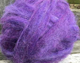 Alpaca Wool Roving, Spinning, Felting, Purple