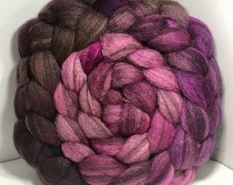 Spinning Fiber BFL Swirl- 5oz - Pink Squirrel 2