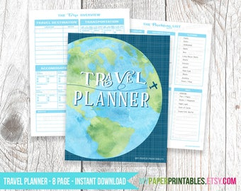 Printable Packing List, Travel Packing List, Packing Planner, Vacation Packing List, Packing Checklist, Trip Planner, Vacation Planner