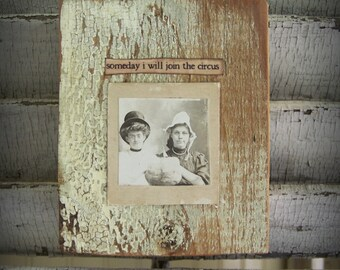 Antique Photograph Art Block Altered Photograph Block Antique Reclaimed Barn Wood Assemblage Barnwood Art Antique Photograph Photo Collage