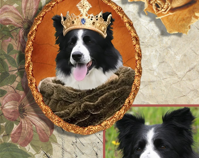 Featured listing image: Custom Original Nobility Dog ,Cat Portrait with a PENDANT or BROOCH by Nobility Dogs