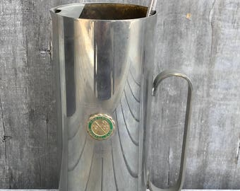 Vintage Silverplate Abenaqui CC Rye NH Golf Trophy Martini Pitcher Stirrer 1970 **Free Ship**