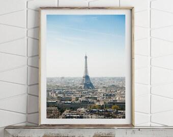 Paris Print, Eiffel Tower France, Paris Wall Art Large Wall Art Prints Downloadable Art Paris Poster French Decor Printable Digital Download