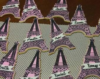 Eiffel Tower Sugar Cookies
