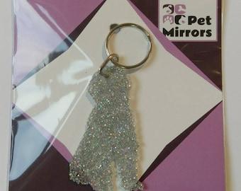Glitter acrylic Labradooodle keyring/bag charm - 9 colour choices