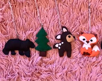 Woodland Felt Animals