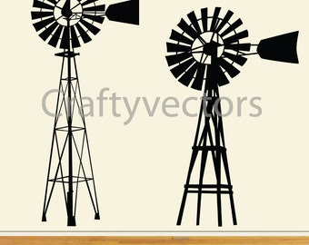 Old Australian/ American Windmill SVG cut file