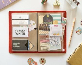 Traveler's Notebook A5 PVC Pouch & Card Holder