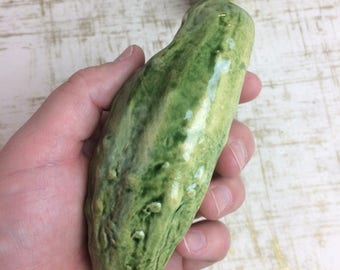 Green Pickle Pipe ceramic tobacco - green pickle cucumber  handmade one of a kindtobacco use only - smoke clay pipe - glass smoking pipe