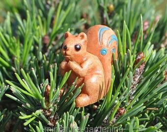 Woodland Squirrel for Miniature Garden, Fairy Garden