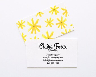 Flower Child Business Cards // DIY Business Cards // Printable Business Cards // Instant Download Business Cards // WORD FILES