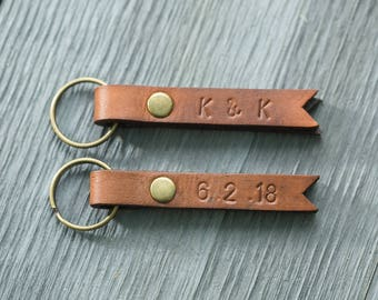 Leather Key Fob | Leather Keychain | Leather Accessory | Free Personalization | Gifts | Leather | Brass | Customize | Groomsmen | Brides
