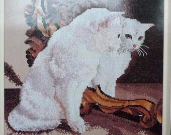 cross my heart priscilla White Cat Mirror Kitty SCBK-147-3 Kit 1996