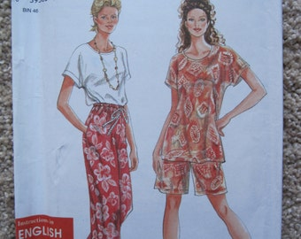 UNCUT Misses Pants or Shorts and Top - All Sizes Included - Simplicity Pattern 9605 - Vintage 1995