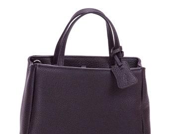 Leather tote, leather handbag, leather tote bag,  black handbag, leather bag, black handbag