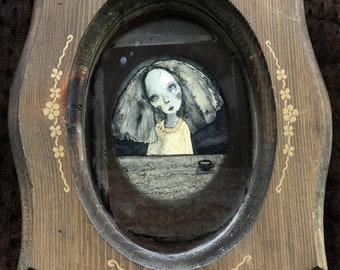 Coffee Gal (original framed painting)
