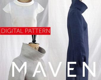 The French Dart Shift Tunic PDF sewing pattern, DIGITAL DOWNLOAD, tunic sewing pattern, womens pattern, top, tunic pattern, dress pattern