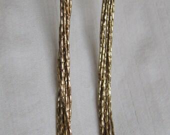 Vintage Necklace Liquid Gold Tone