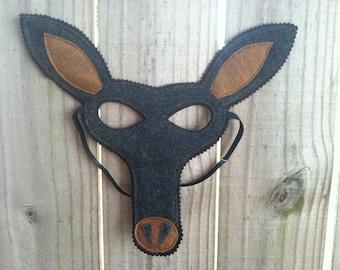 Aardvark Mask - Felt Animal Mask