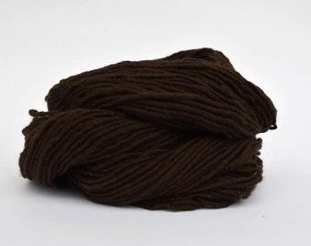 Dark Brown Weaving Yarn, Navajo Weaving Yarn, Wool Yarn, 4oz skein