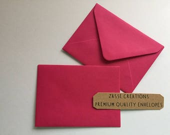 Hot Fuchsia Pink Premium Quality Envelopes 100gsm Greeting Cards/Craft/Wedding - Qty's 10 - 1000 & in 6 Different Sizes