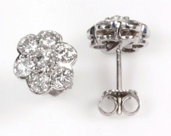 1 ct tw Natural Diamond (G-H, SI3) Gold Stud Earrings