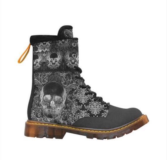 Skull Shabby Chic boots Ladies