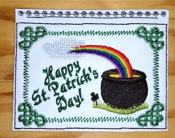 Embroidery Greeting Cards by DiElobi – St. Patrick's Day #2