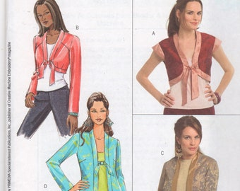 Butterick 4740 Misses JACKET and SHRUG Pattern Dream of Jeannie Womens Sewing Pattern Size 8 10 12 14 Bust 31 32 34  36 UNCUT