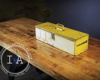 Vintage Lyon Toolbox in Yellow Garage Storage