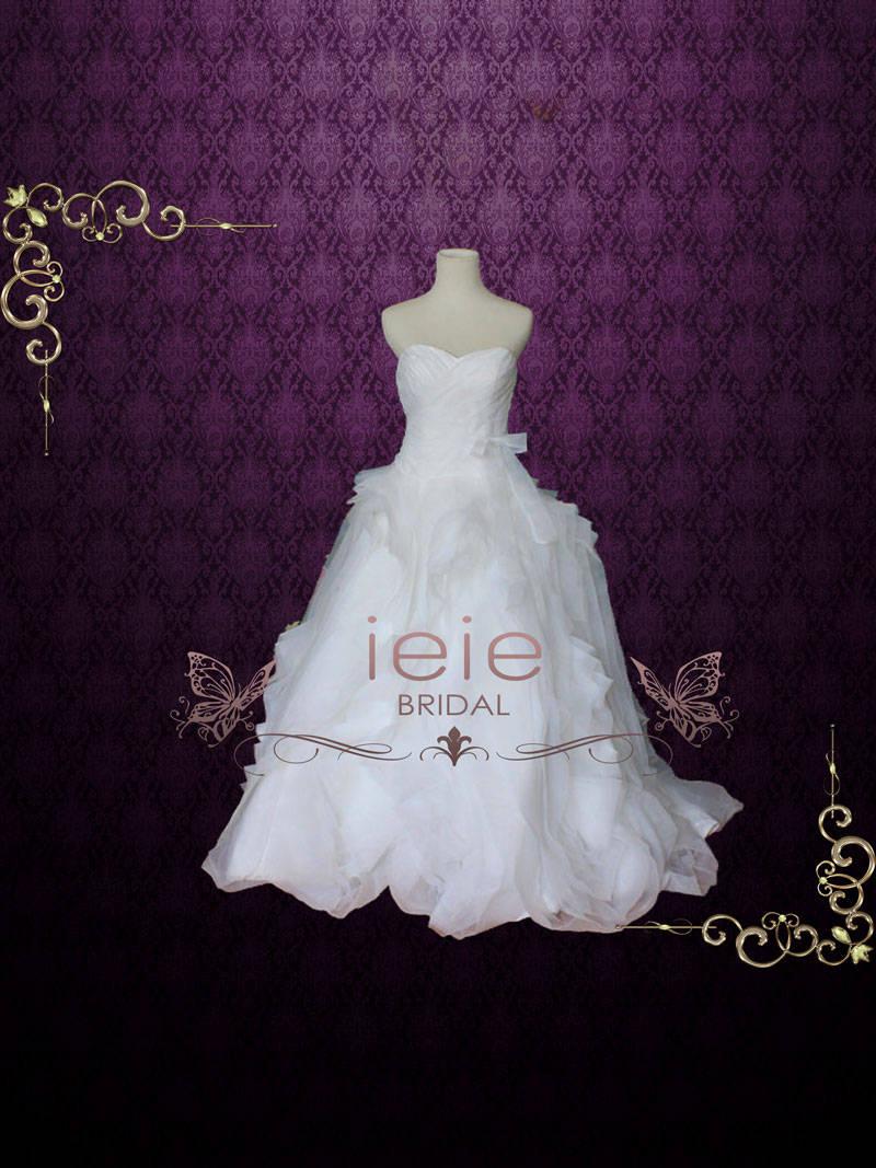 Organza Ruffle Wedding Gown A lighter version of Diana
