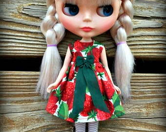 Summer Strawberry Blythe Dress