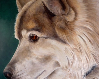 Gift Certificate, Custom Pet Portrait, Dog Oil Painting, Ready to Hang, Original, Hand Painted from you Photo