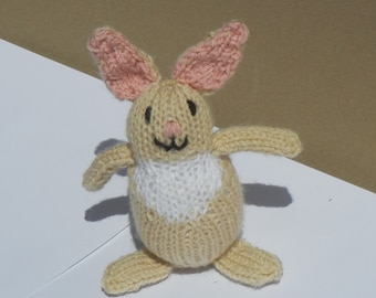 Bunny, Easter Bunny, Knit Toy Bunny, Handmade Gift, Easter Basket Filler, Ready to Ship