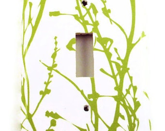 Light  Switch Plate Cover Wall Decor Single Switchplate   Green Grass  (128S)