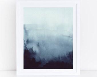 Indigo Print, Abstract Art, Abstract Watercolor, Art, Printable Watercolor, Blue Wall Art, Abstract Wall Art, Indigo Art, Abstract Printable
