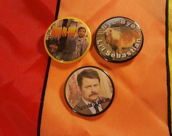Set of Three Parks and Recreation Buttons