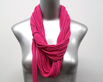 Pink Scarf, Hot Pink Scarf, Pink Accessories, Pink Infinity Scarf, Hot Pink Infinity Scarf, Pink Circle Scarf, Hot Pink Circle Scarf, Gift