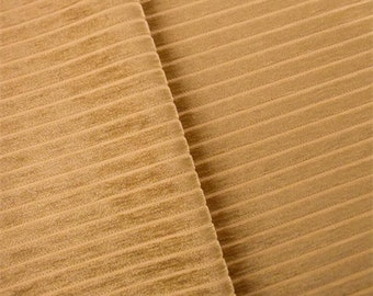 Carmel Brown Striped Chenille Home Decorating Fabric, Fabric By The Yard