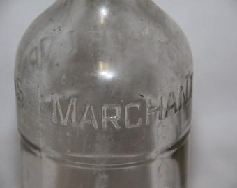 vintage bottle Marchant & co old merchants bottle old soft drink bottle vintage soft drink bottle